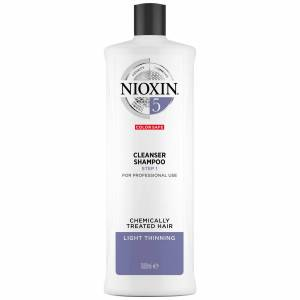 NIOXIN 3-Part System 5 Cleanser Shampoo for Chemically Treated Hair with Light Thinning 1000ml