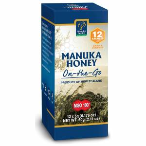Manuka Health New Zealand Ltd MGO 100+ Pure Manuka Honey - Snap Pack - 5g - Pack of 12
