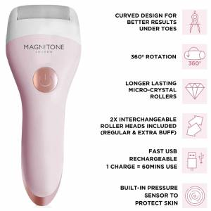Magnitone London Magnitone Well Heeled 2 Rechargeable Express Pedi - Pink