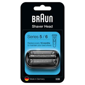 Braun Series 5/6 53B Electric Shaver Head Replacement - Black