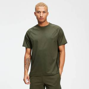 MP Rest Day Men's Double Tape Tricot T-Shirt - Army Green - M
