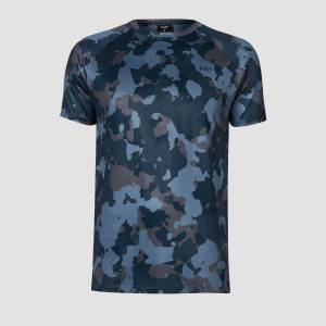 MP Training Men's Camo T-Shirt - Washed Blue - S