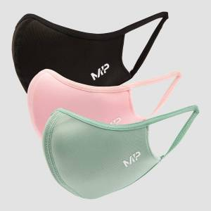 MP Curve Mask (3 Pack) - Black/Geranium Pink/Butterfly Green - S/M