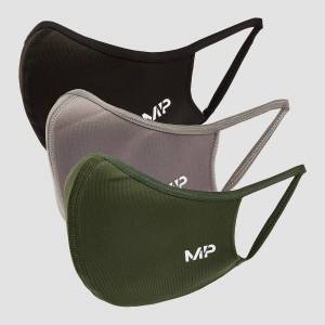 MP Curve Mask (3 Pack) - Black/Leaf Green/Carbon - S/M