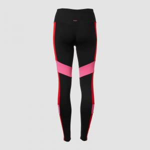 Myprotein MP Women's Power Colour Block Leggings - Black/Danger - XS