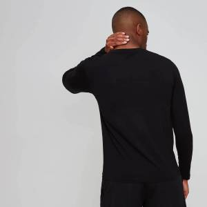 MP Men's Luxe Classic Long Sleeve Crew - Black - XS