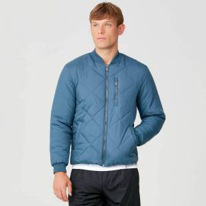 MP Pro-Tech Quilted Bomber Jacket - Petrol Blue - S
