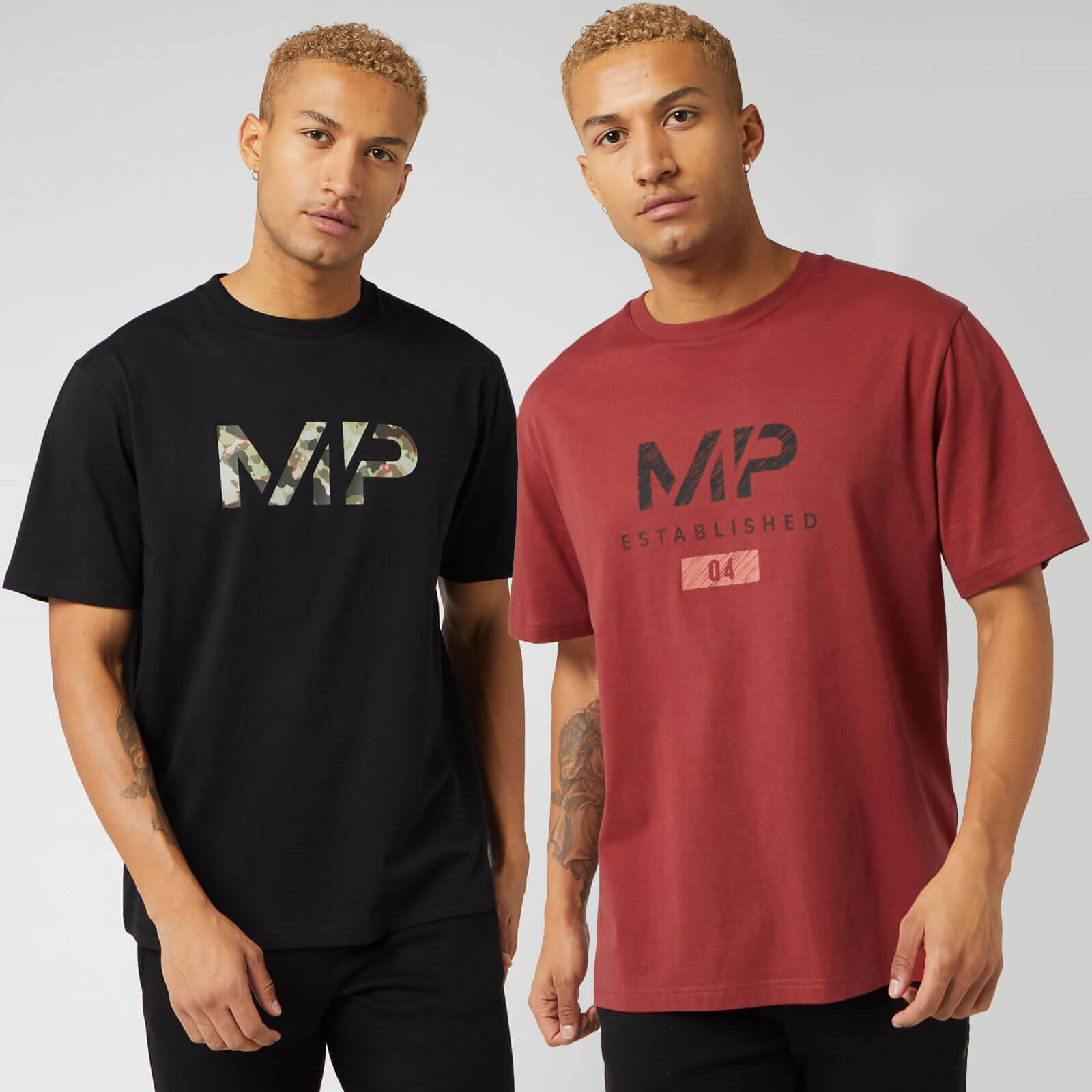 Myprotein Black Friday Limited Edition Graphic T-Shirt (2 Pack) - Black/Paprika - XS