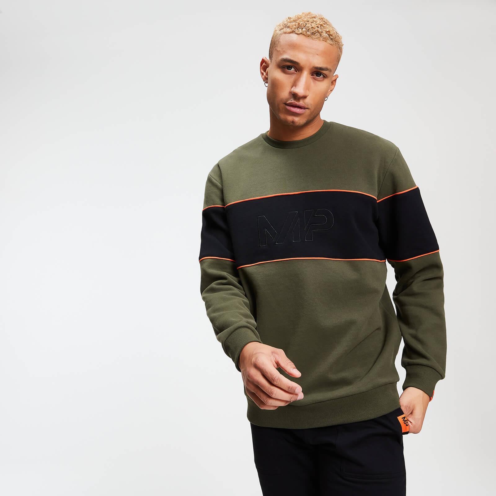 Myprotein Rest Day Men's Stripe Sweatshirt - Army Green - XL