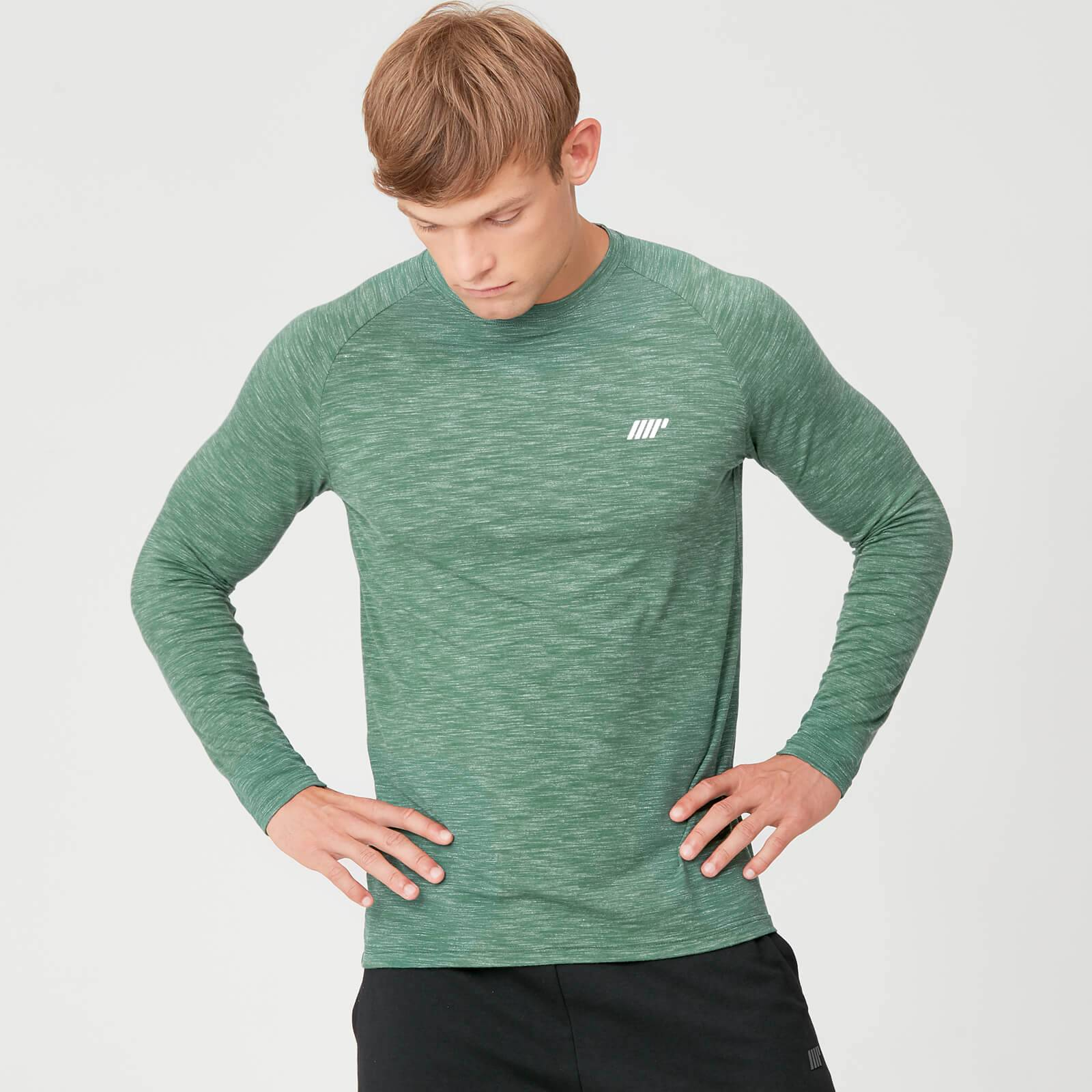 Myprotein Performance Long Sleeve T-Shirt - Green Marl - S