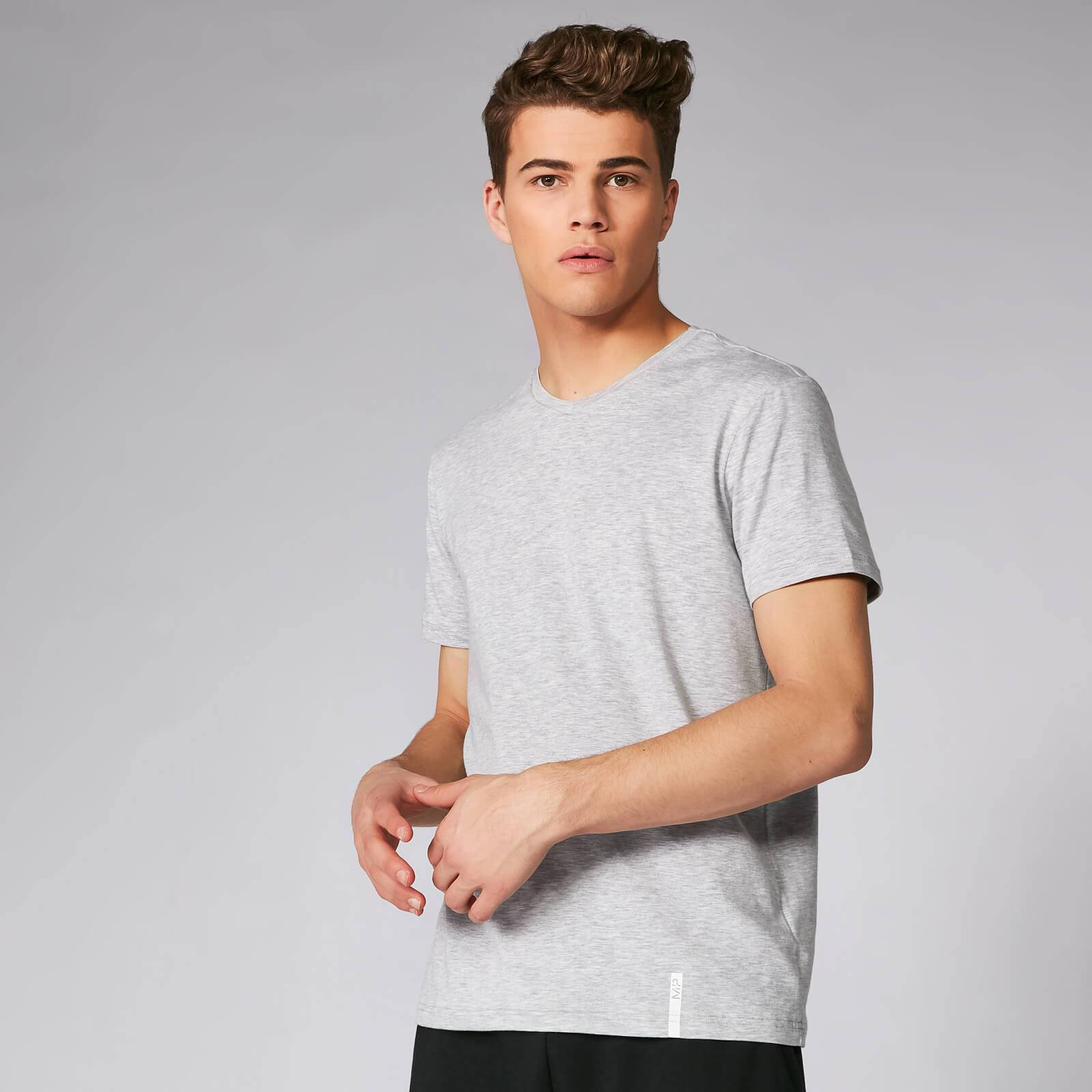 Myprotein Luxe Classic V-Neck T-Shirt - Silver - S