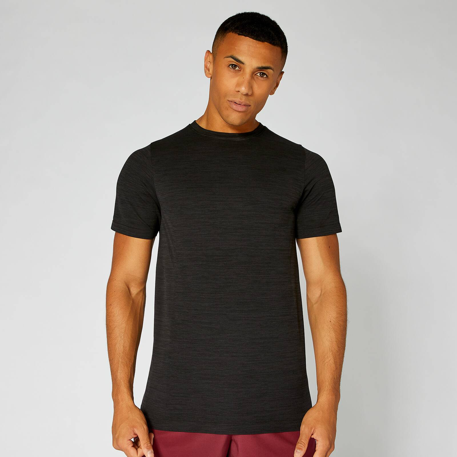 Myprotein Lightweight Seamless T-Shirt - Black Marl - XL