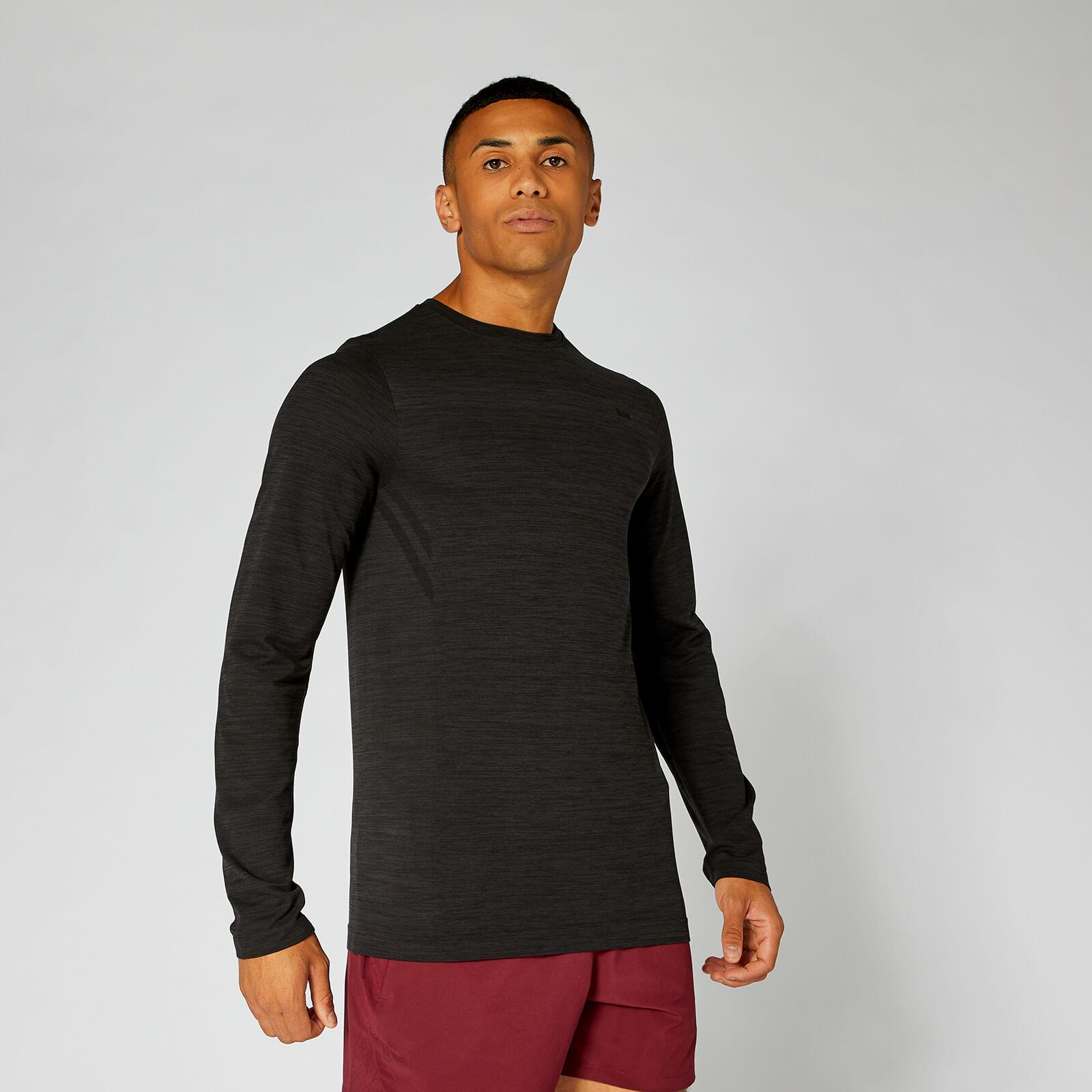 Myprotein Lightweight Seamless Long-Sleeve T-Shirt - Black Marl - XXL
