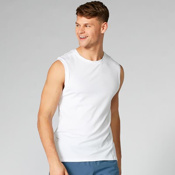 Myprotein Luxe Classic Sleeveless T-Shirt - White - XXL