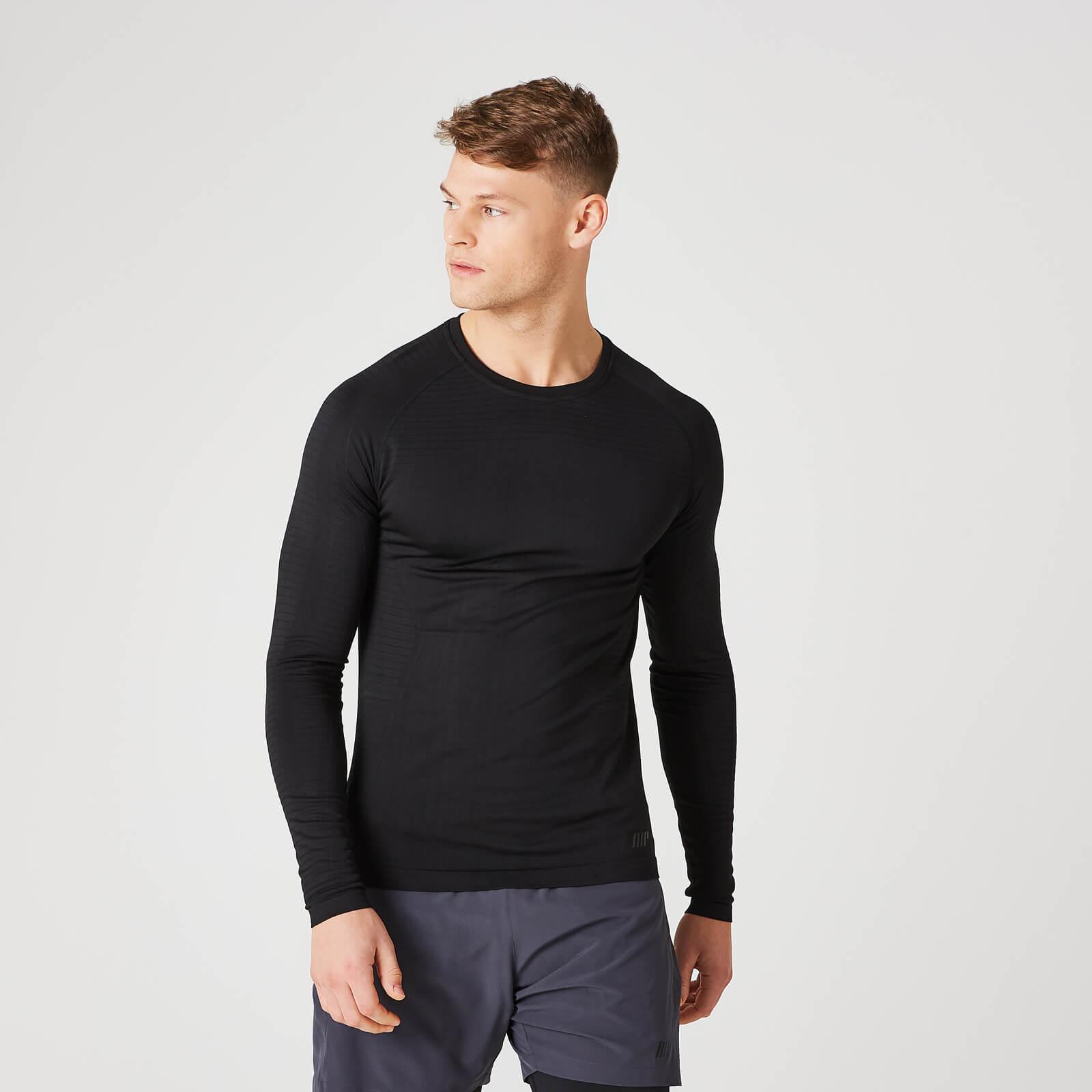 Myprotein Elite Seamless Long-Sleeve T-Shirt – Black - M - Black