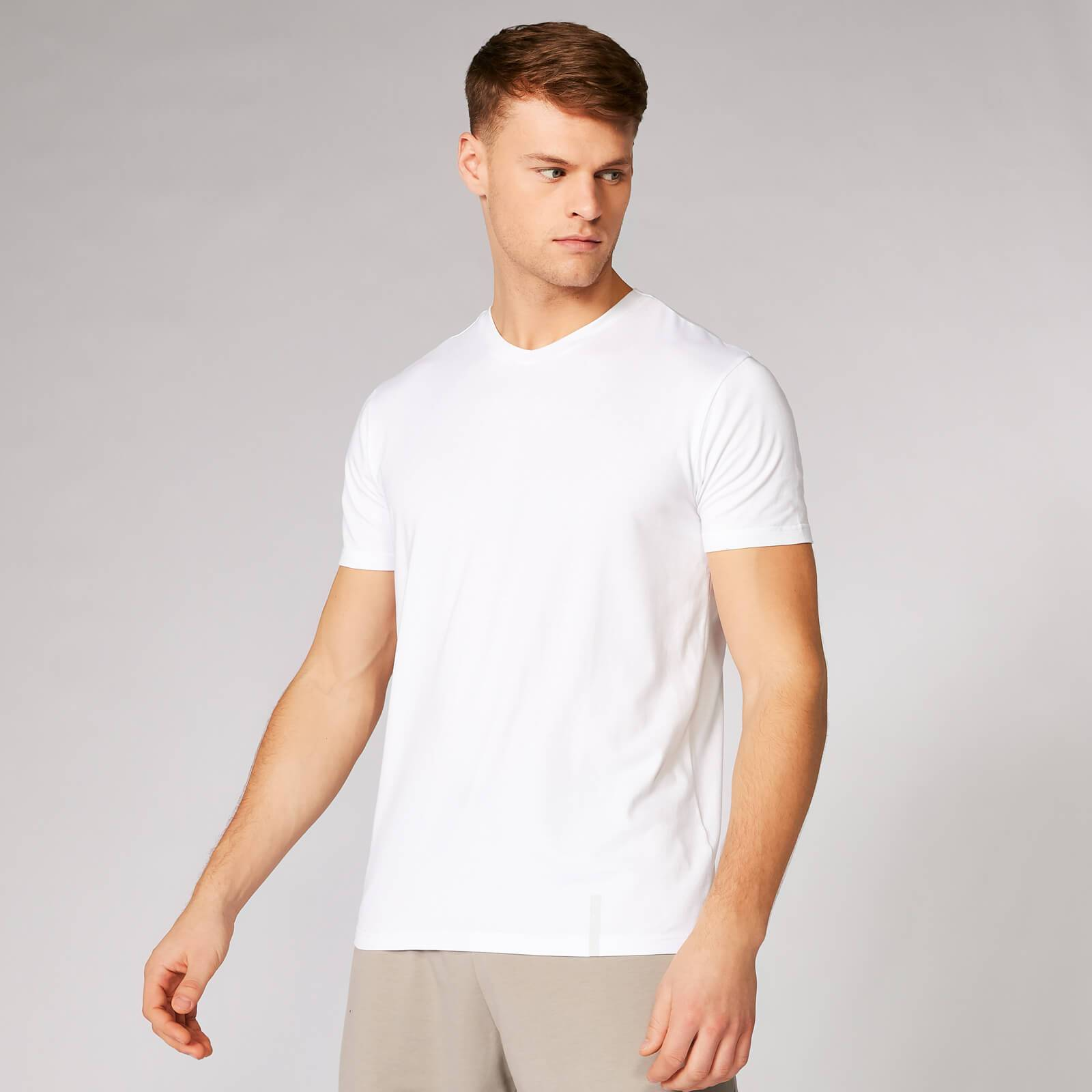 Myprotein Luxe Classic V-Neck T-Shirt - White - S