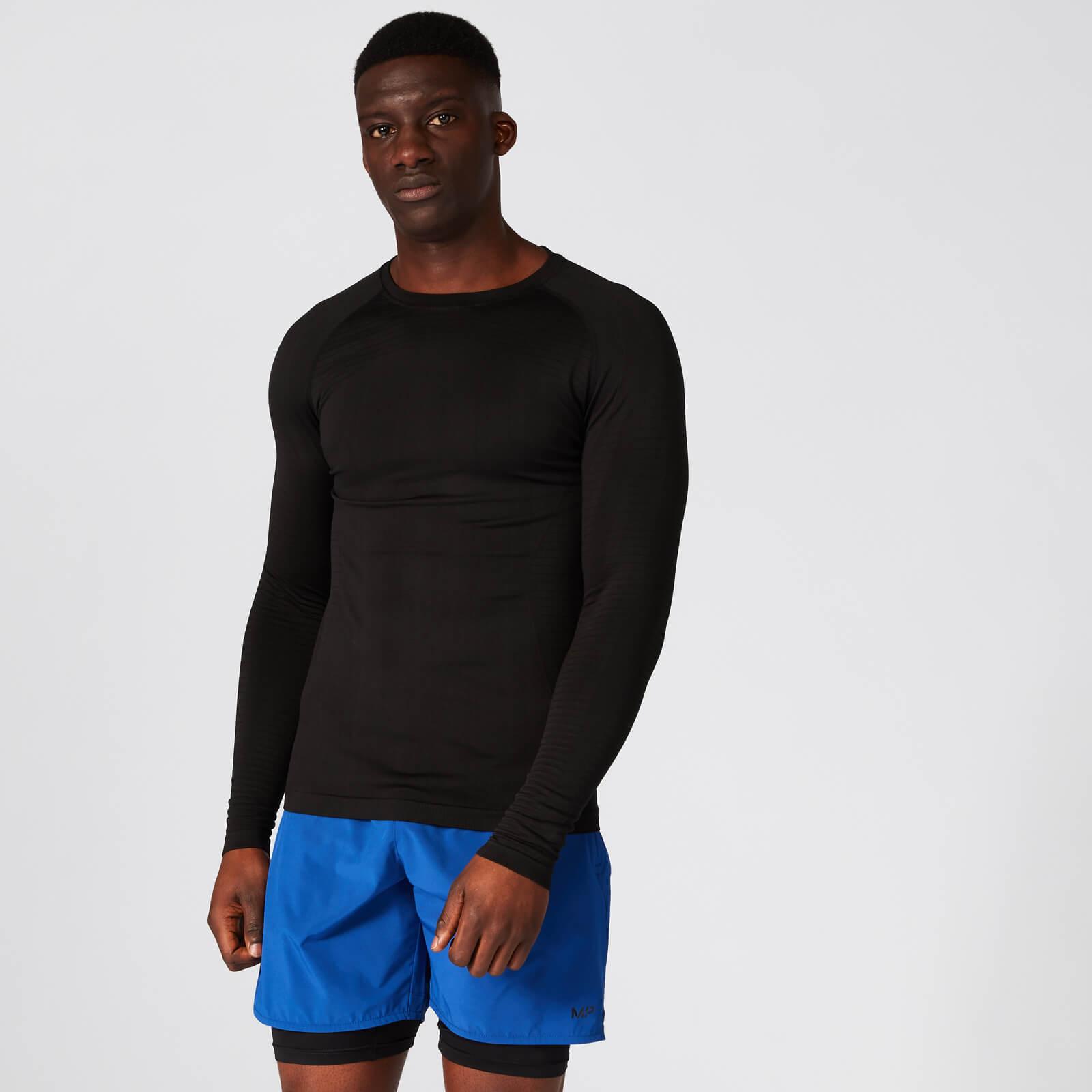 Myprotein Elite Seamless Long-Sleeve T-Shirt – Black - XXL