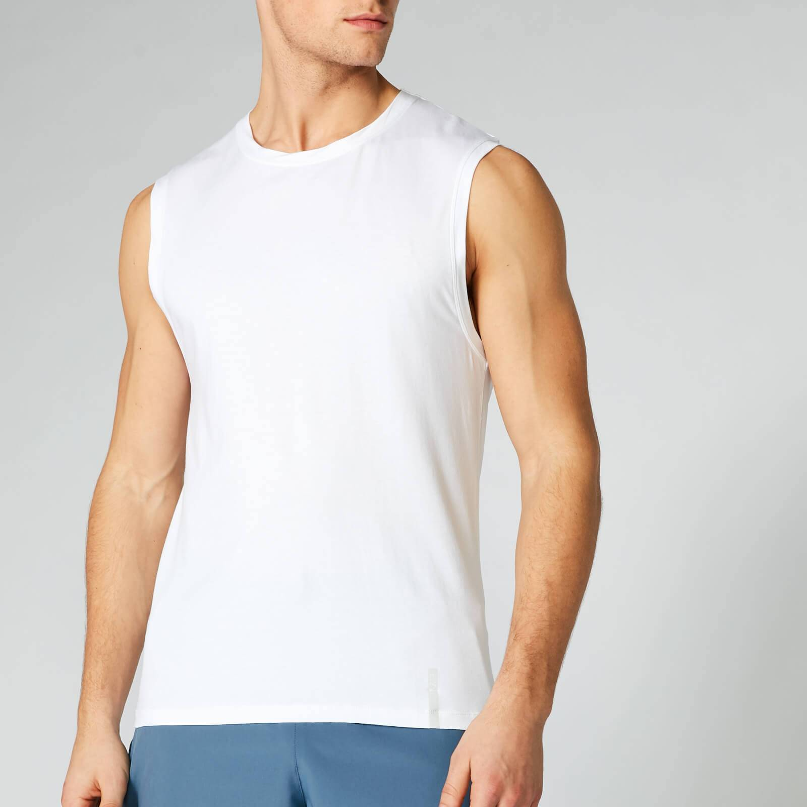 Myprotein Luxe Classic Sleeveless T-Shirt - White - L