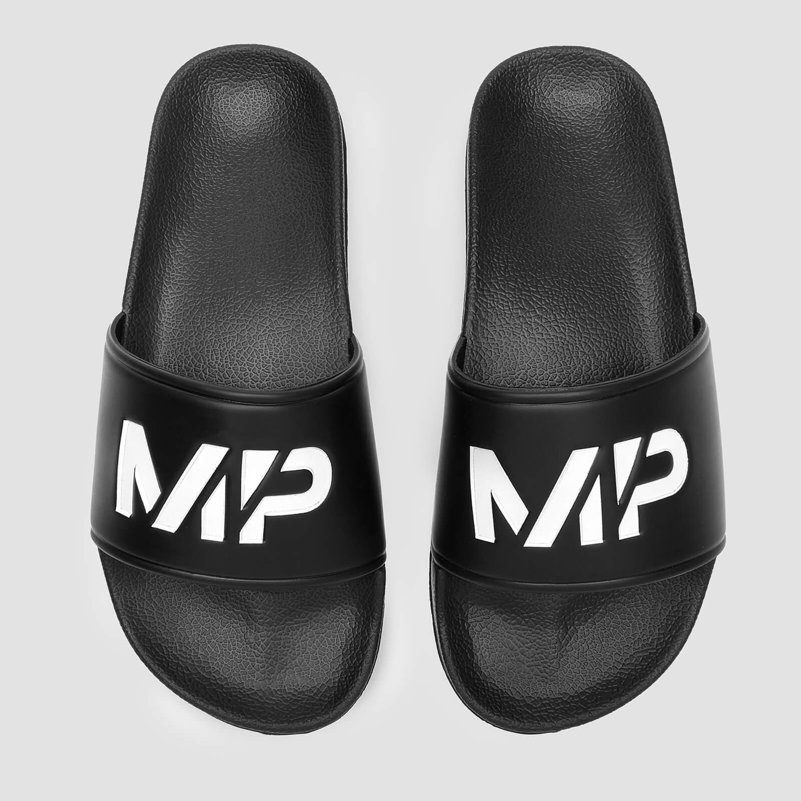 MP Men's Sliders - Black/White - UK 7