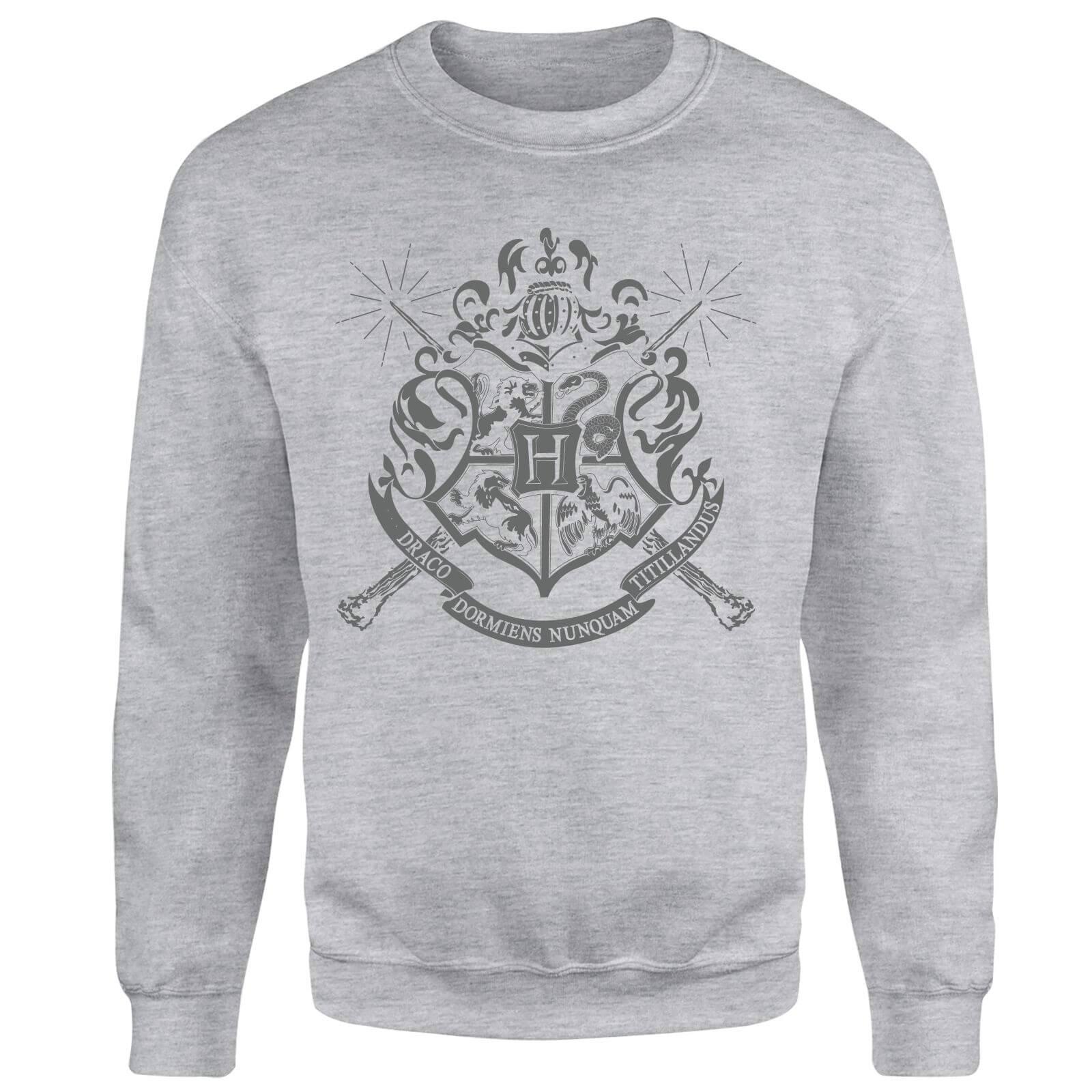 Harry Potter Draco Dormiens Nunquam Titillandus Men's Grey Sweatshirt - XXL - Grey