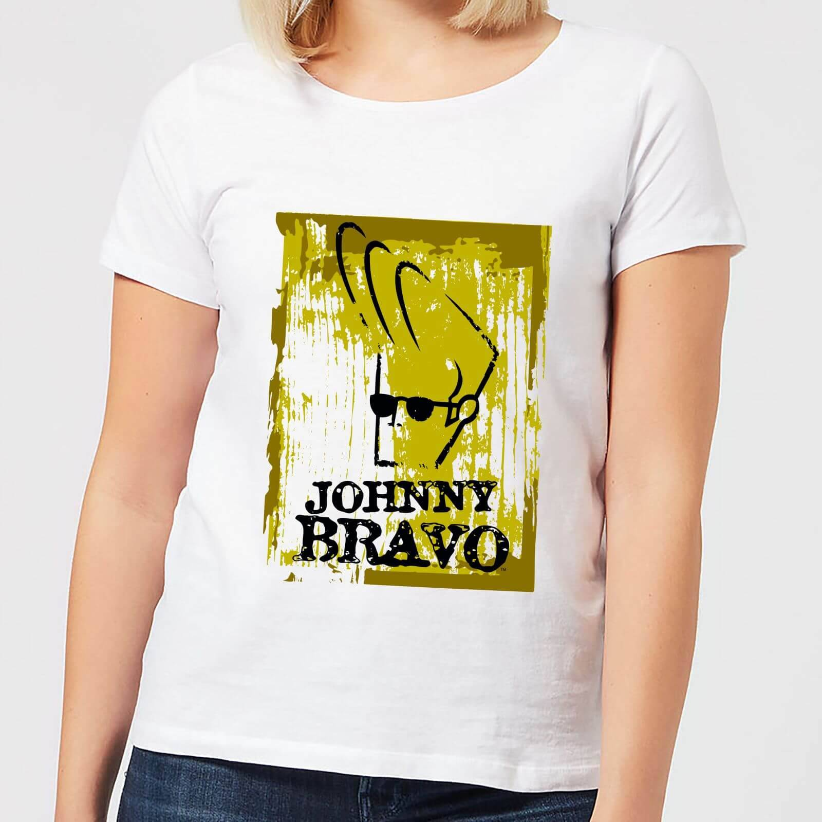 Cartoon Network Johnny Bravo Distressed Women's T-Shirt - White - M - White