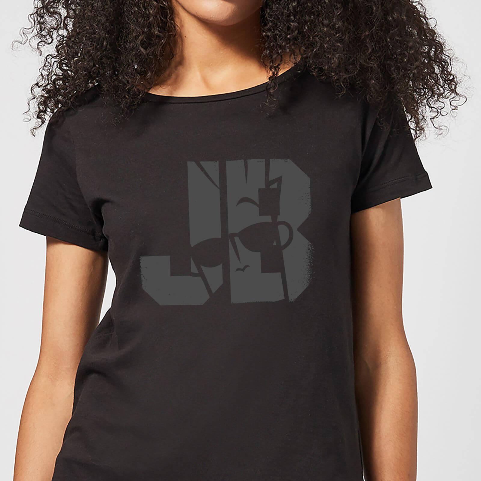 Cartoon Network Johnny Bravo JB Sillhouette Women's T-Shirt - Black - S - Black