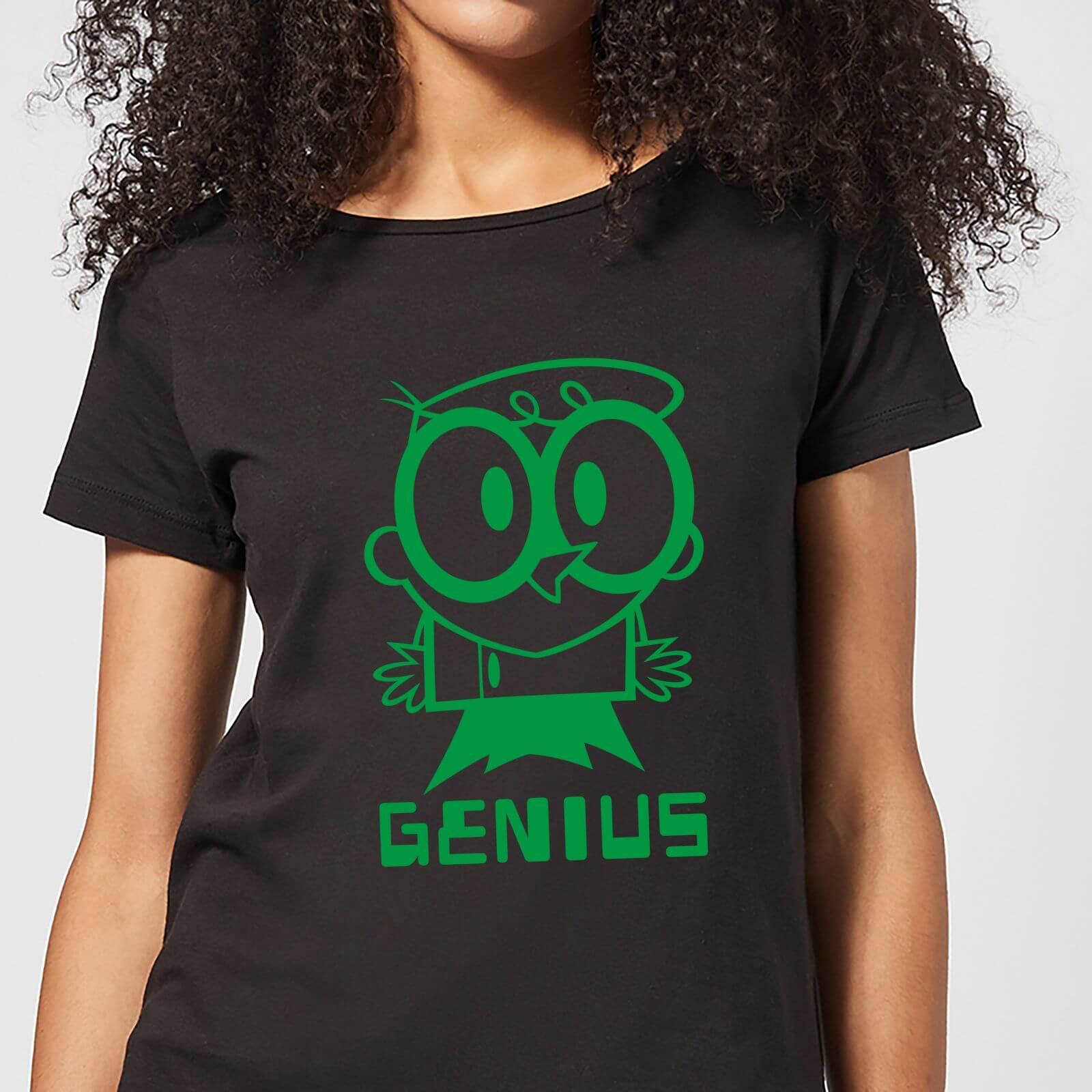 Cartoon Network Dexters Lab Green Genius Women's T-Shirt - Black - L - Black