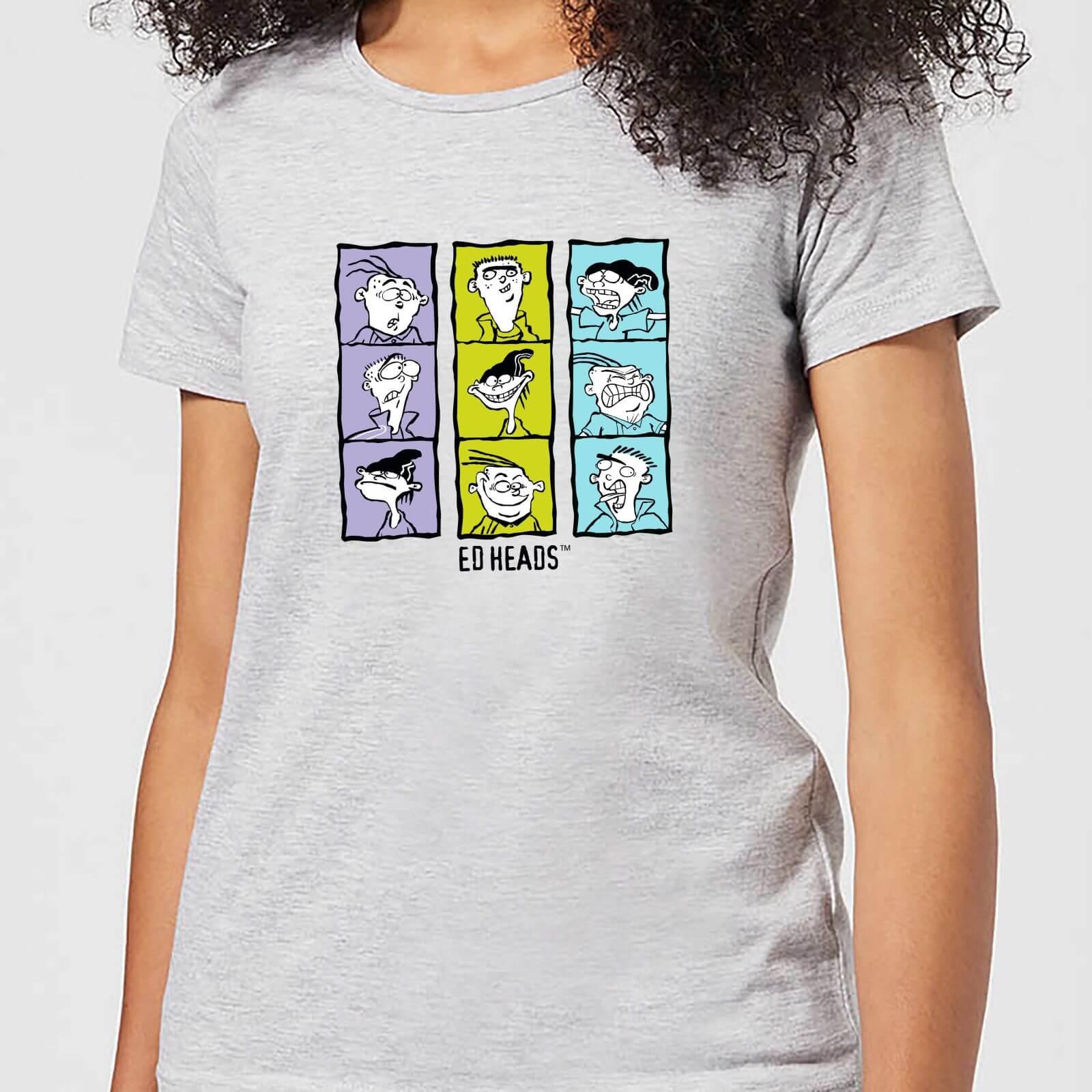 Cartoon Network Ed, Edd n Eddy Heads Women's T-Shirt - Grey - L - Grey