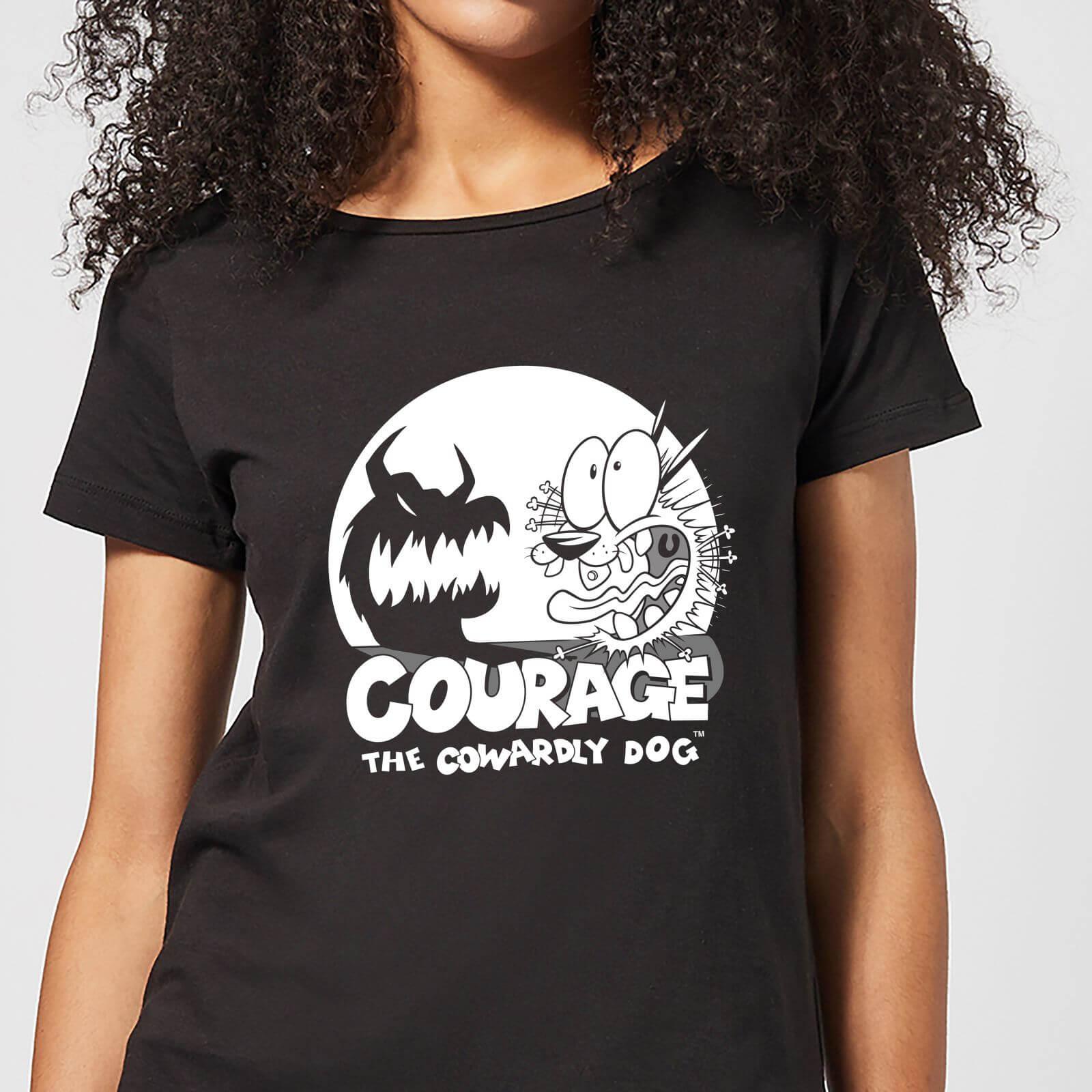 Cartoon Network Courage The Cowardly Dog Spotlight Women's T-Shirt - Black - L