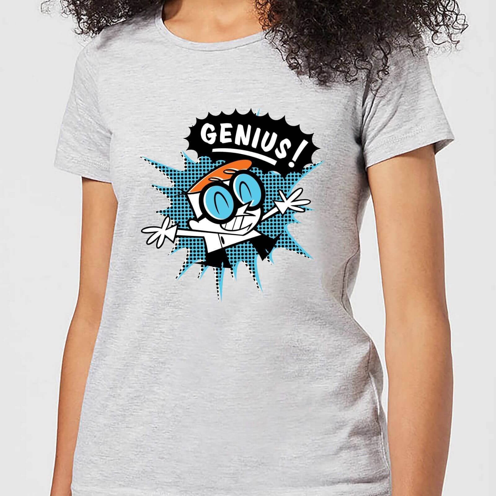 Cartoon Network Dexters Lab Genius Women's T-Shirt - Grey - S - Grey