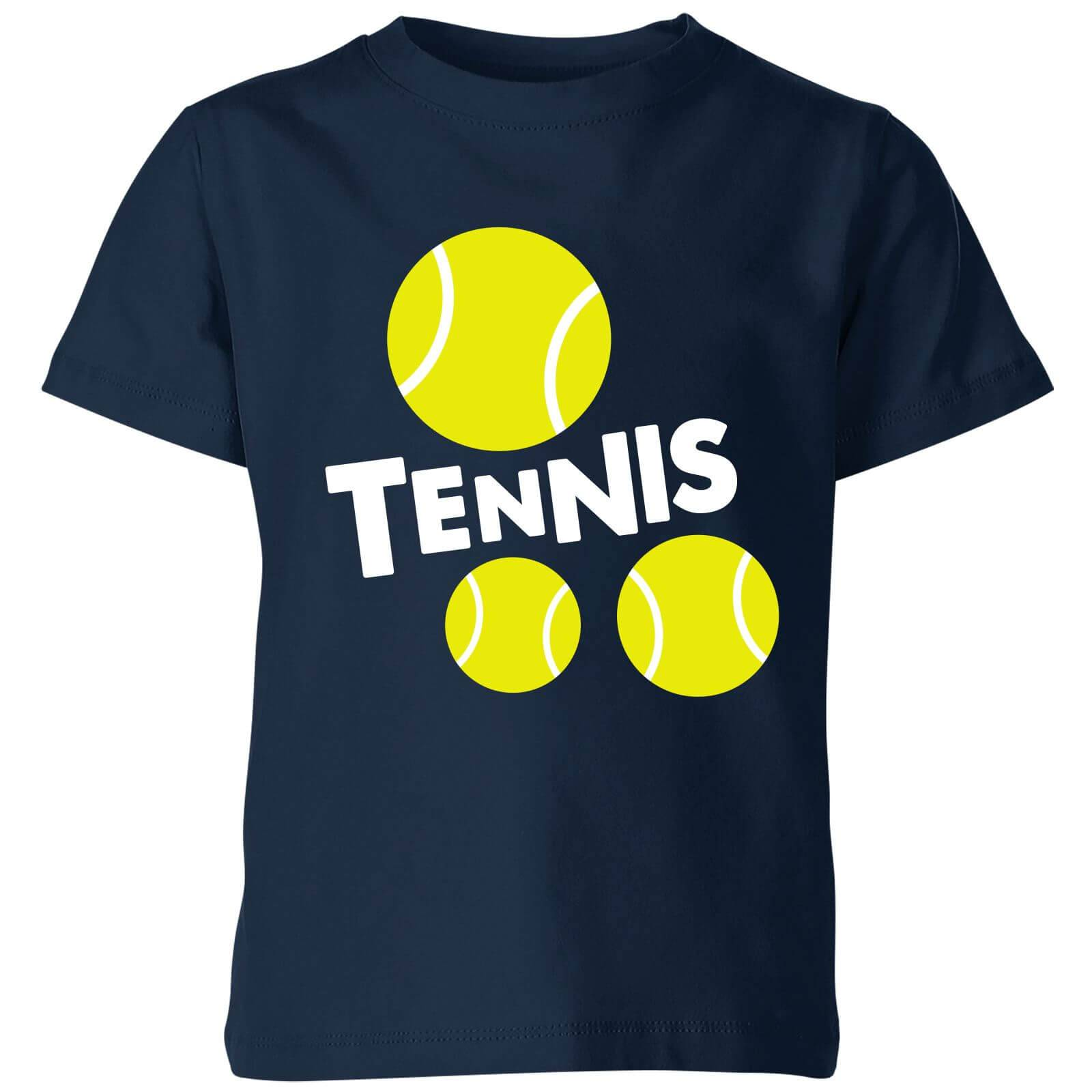 The Tennis Collection Tennis Balls Kids' T-Shirt - Navy - 7-8 Years - Navy