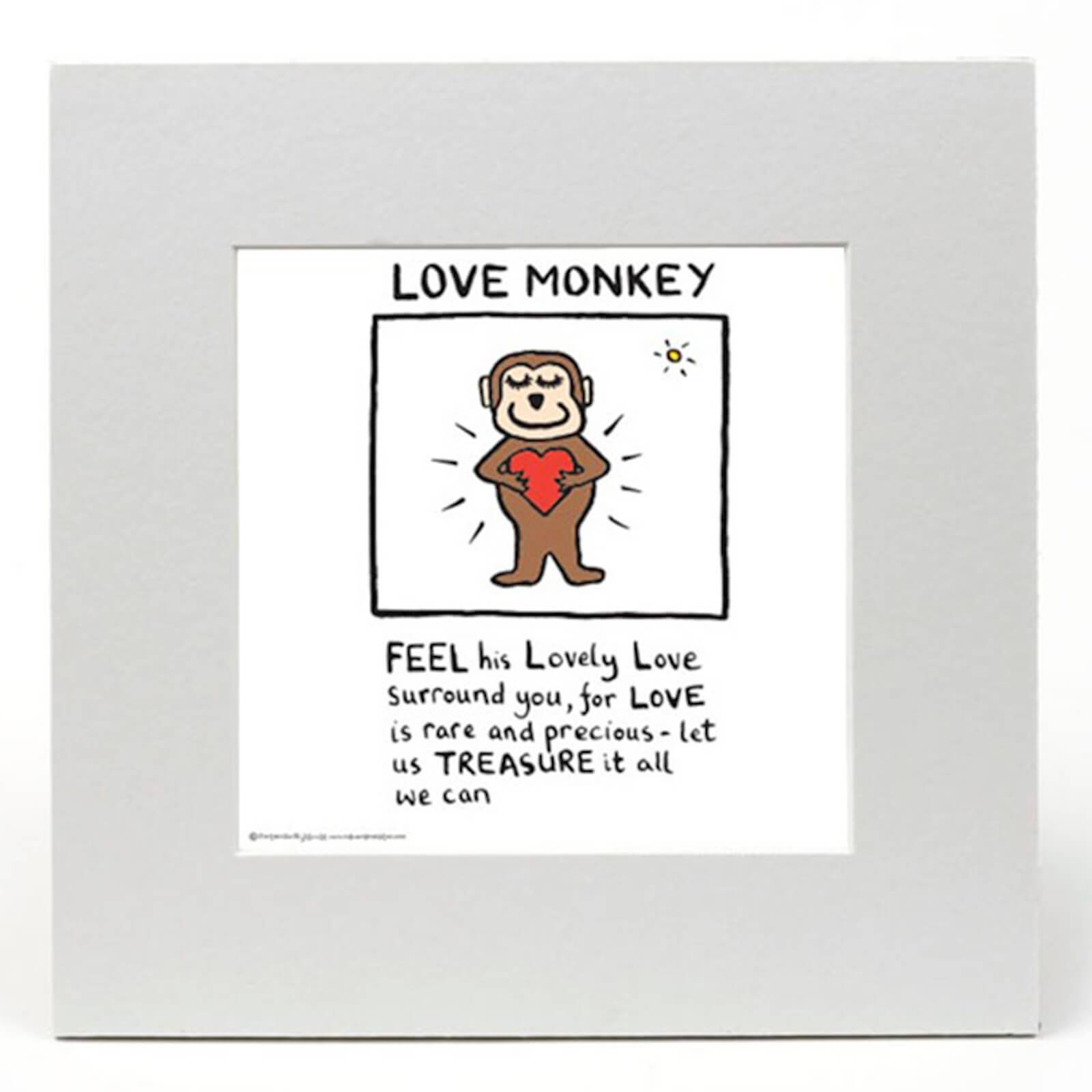 Edward Monkton Love Monkey by Edward Monkton