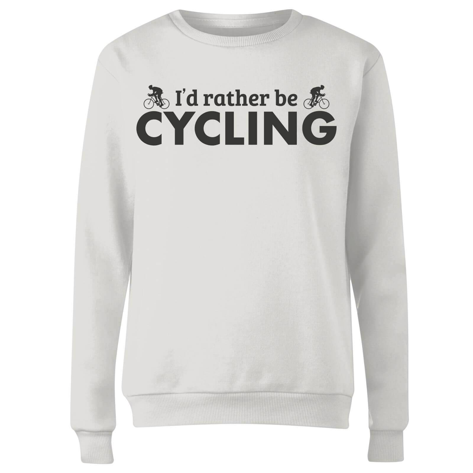 The Dad Collection I'd Rather be Cycling Women's Sweatshirt - White - XL - White