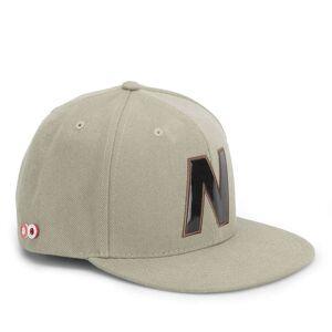 New Balance Unisex Snap 6 Panel Flat Peak Baseball Cap - Acrylic Light Brown/Khaki