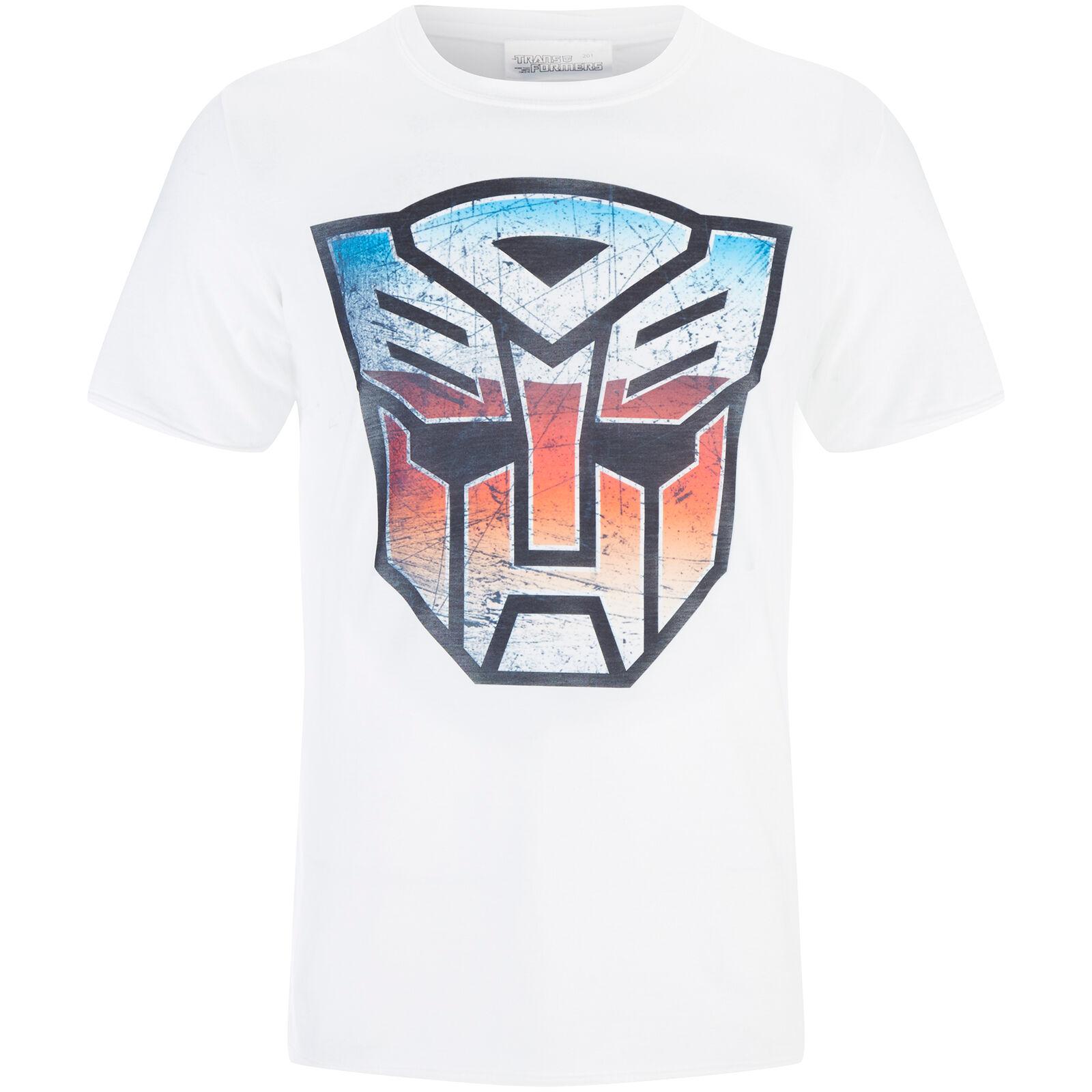 Geek Clothing Transformers Men's Transformers Multi Emblem T-Shirt - White - L - White
