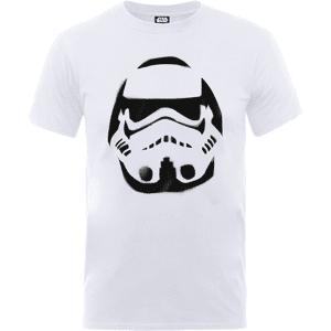 Star Wars Paint Spray Stormtrooper T-Shirt - White - S - White