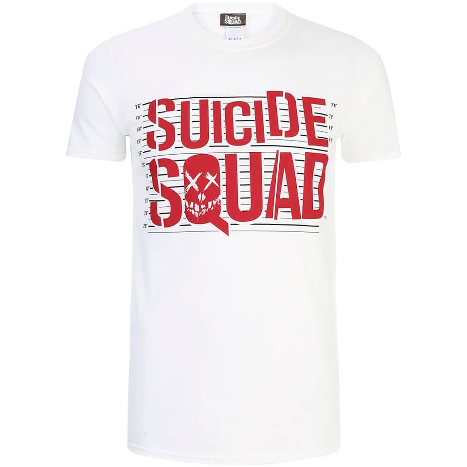 Geek Clothing DC Comics Men's Suicide Squad Line Up Logo T-Shirt - White - XL - White