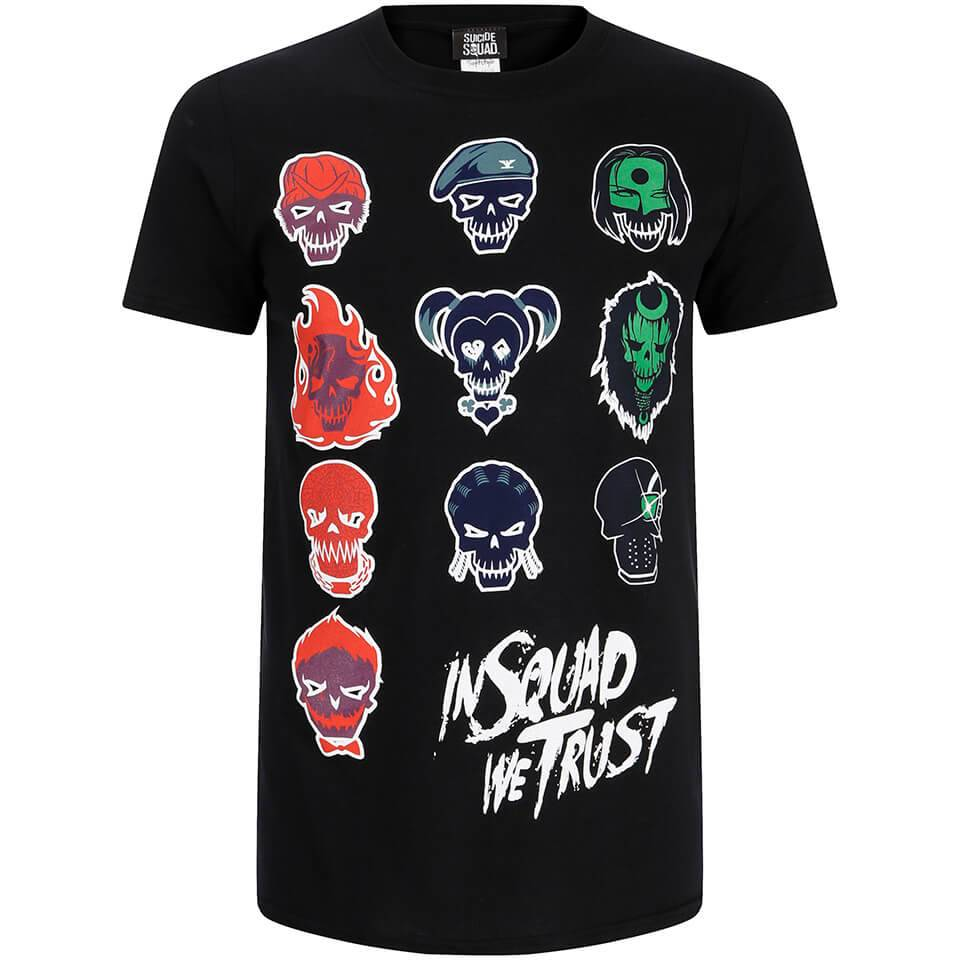 Geek Clothing DC Comics Men's Suicide Squad Villain Skull T-Shirt - Black - L - Black