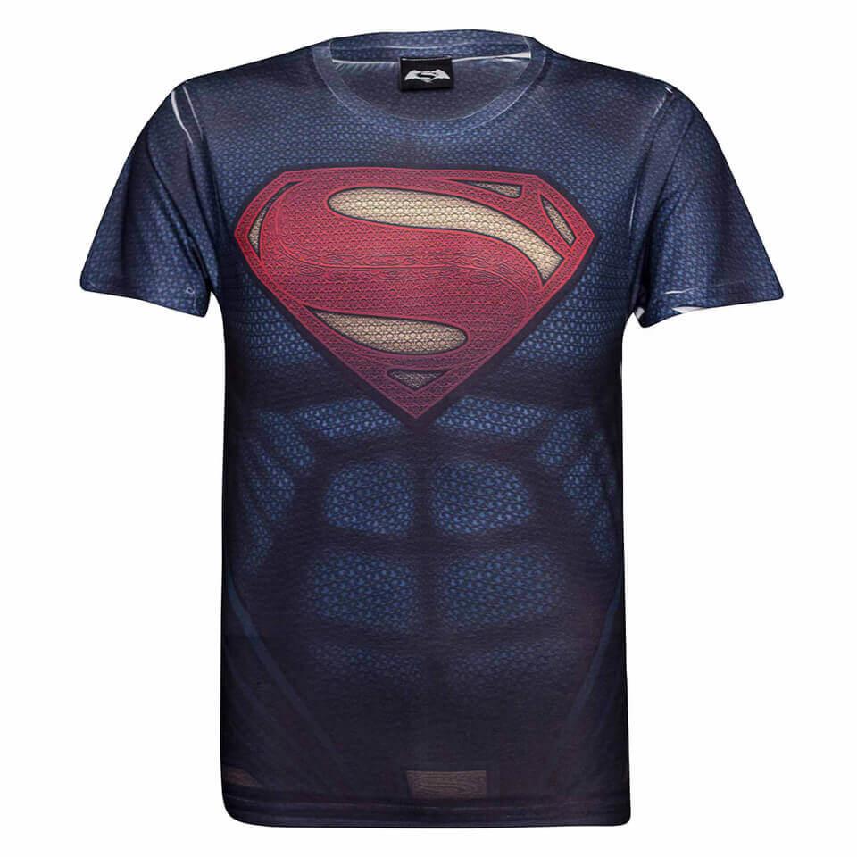 Geek Clothing DC Comics Men's Superman Muscle T-Shirt - Blue - L - Blue