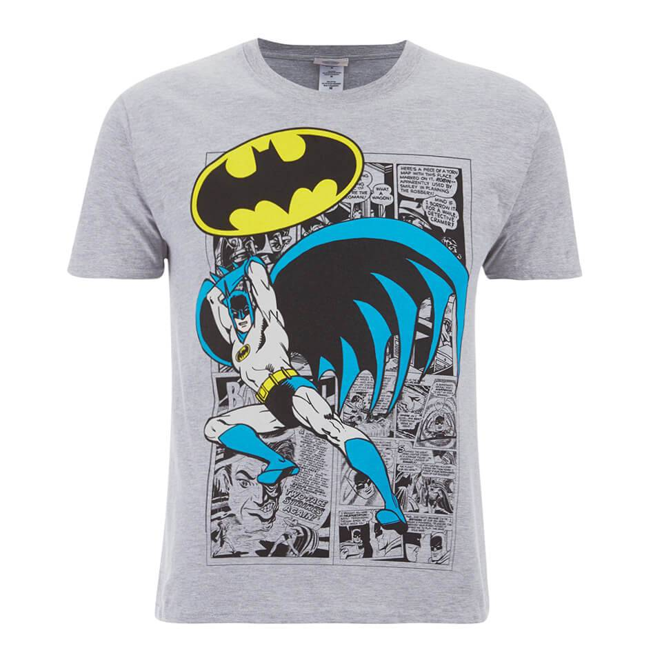 Geek Clothing DC Comics Men's Batman Comic Strip T-Shirt - Grey - S - Grey