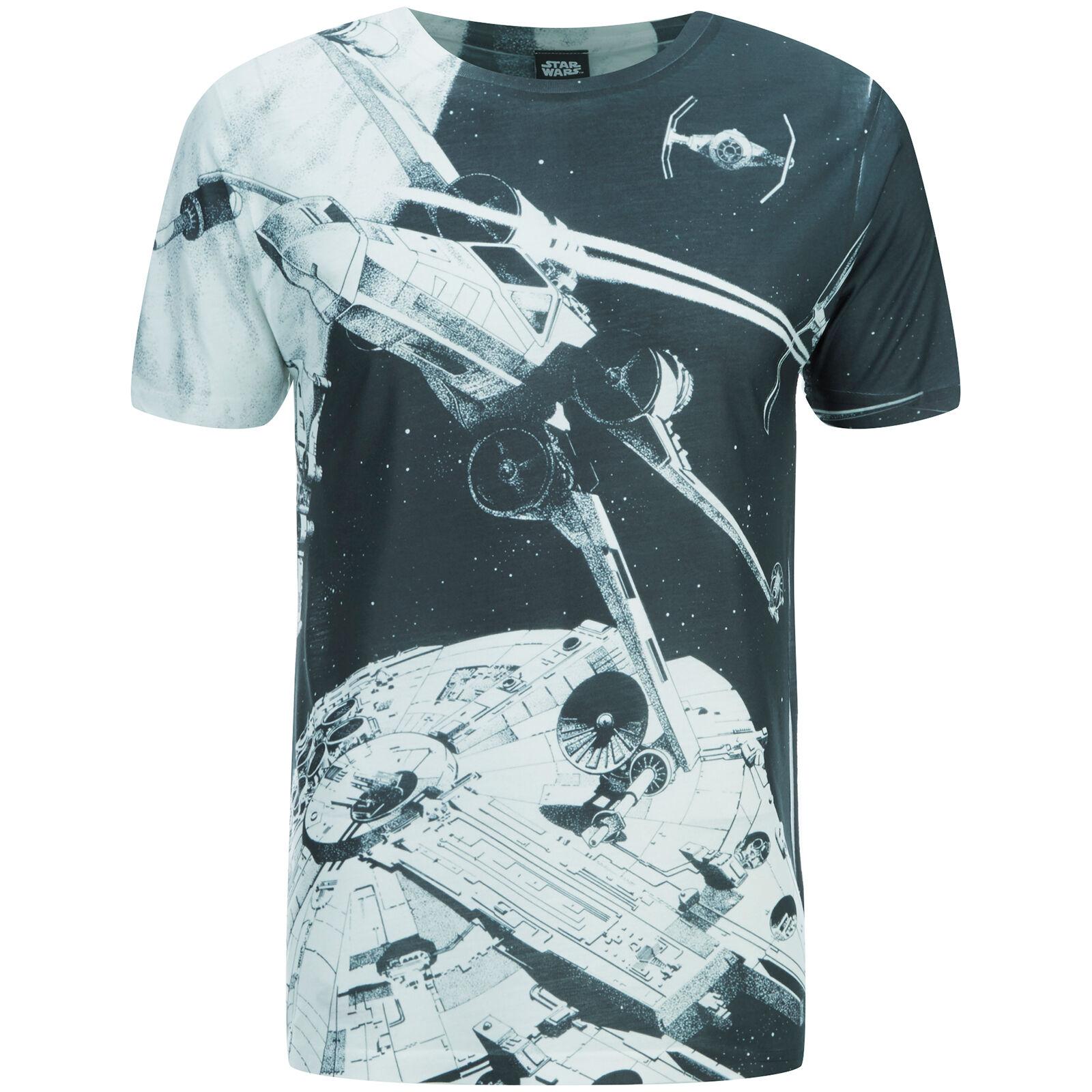 Geek Clothing Star Wars Men's Space Battle T-Shirt - Black - XL - Black