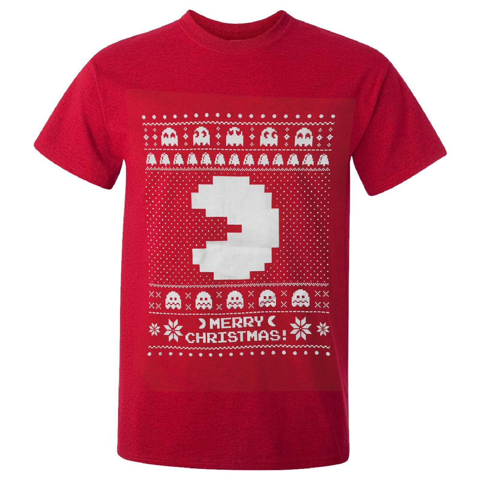 Geek Clothing Namco Men's Merry Pac-Man Christmas T-Shirt - Red - M - Red