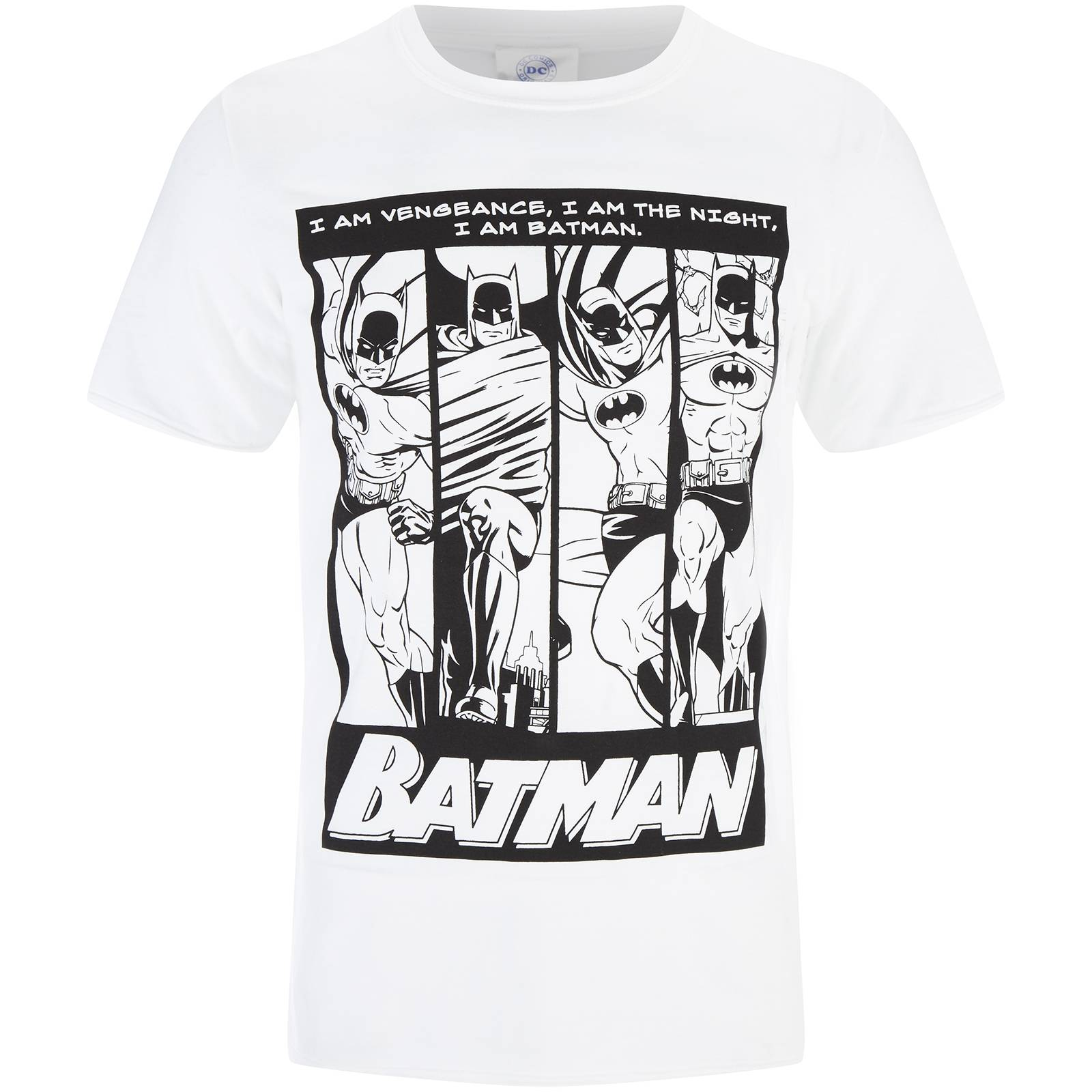 Geek Clothing DC Comics Men's Batman I am Batman T-Shirt - White - S - White
