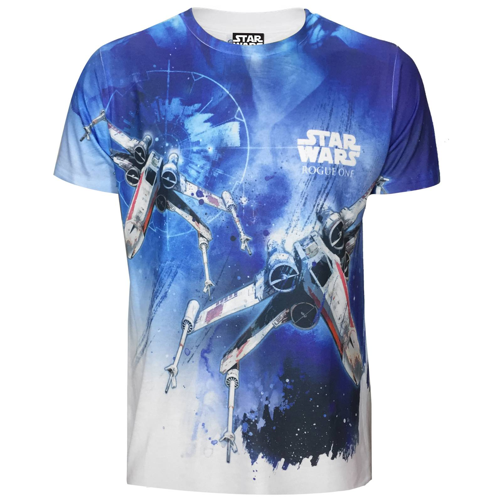 Geek Clothing Star Wars Rogue One Men's X - Wing Sublimation T-Shirt - White - S - White