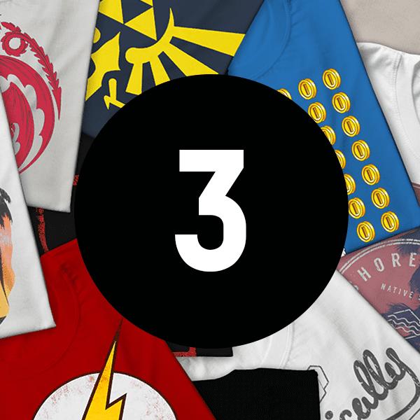 Mystery Geek Collection Mystery Geek T-Shirt - 3-Pack - Men's - L
