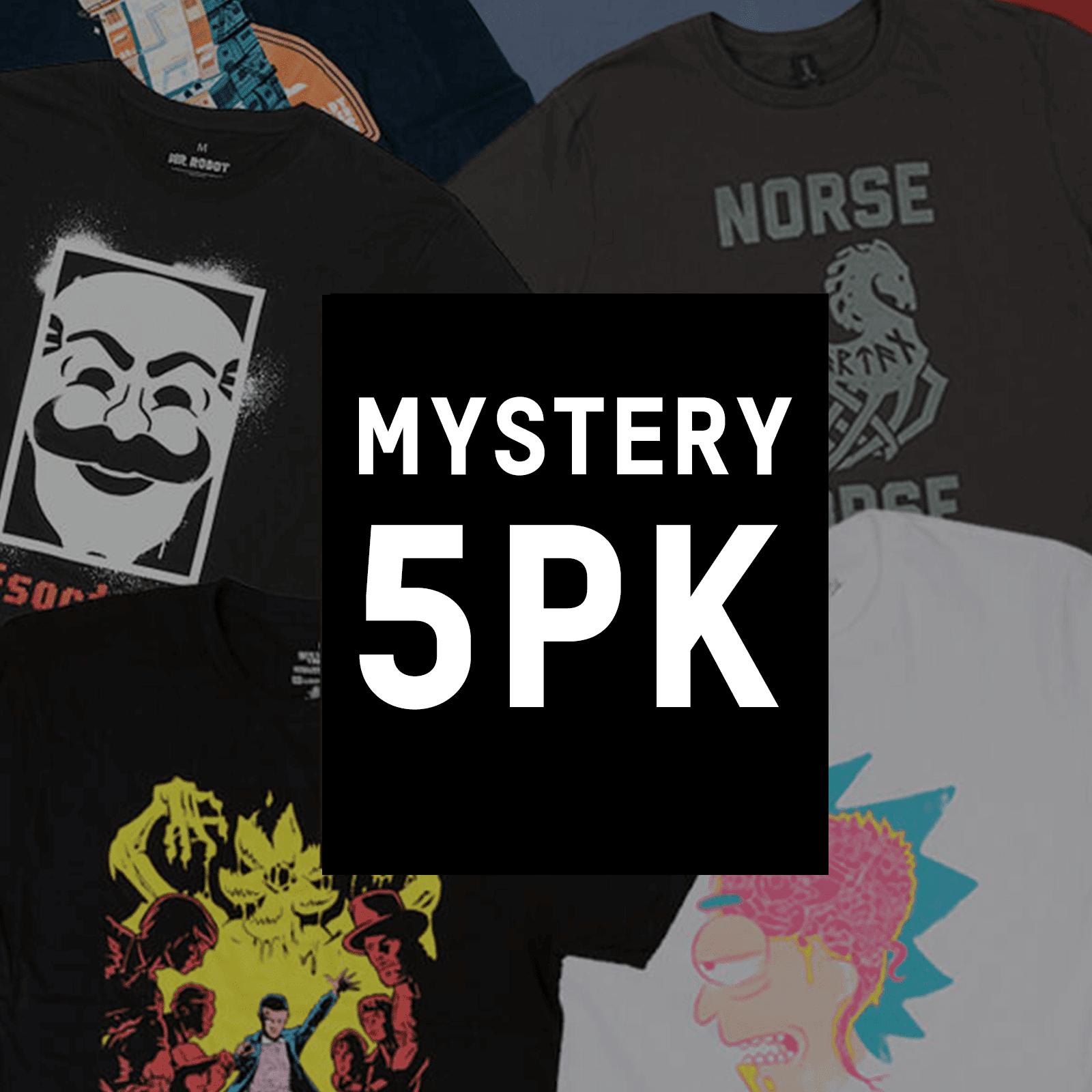 Mystery Geek Collection Mystery Geek T-Shirt - 5-Pack - Men's - S