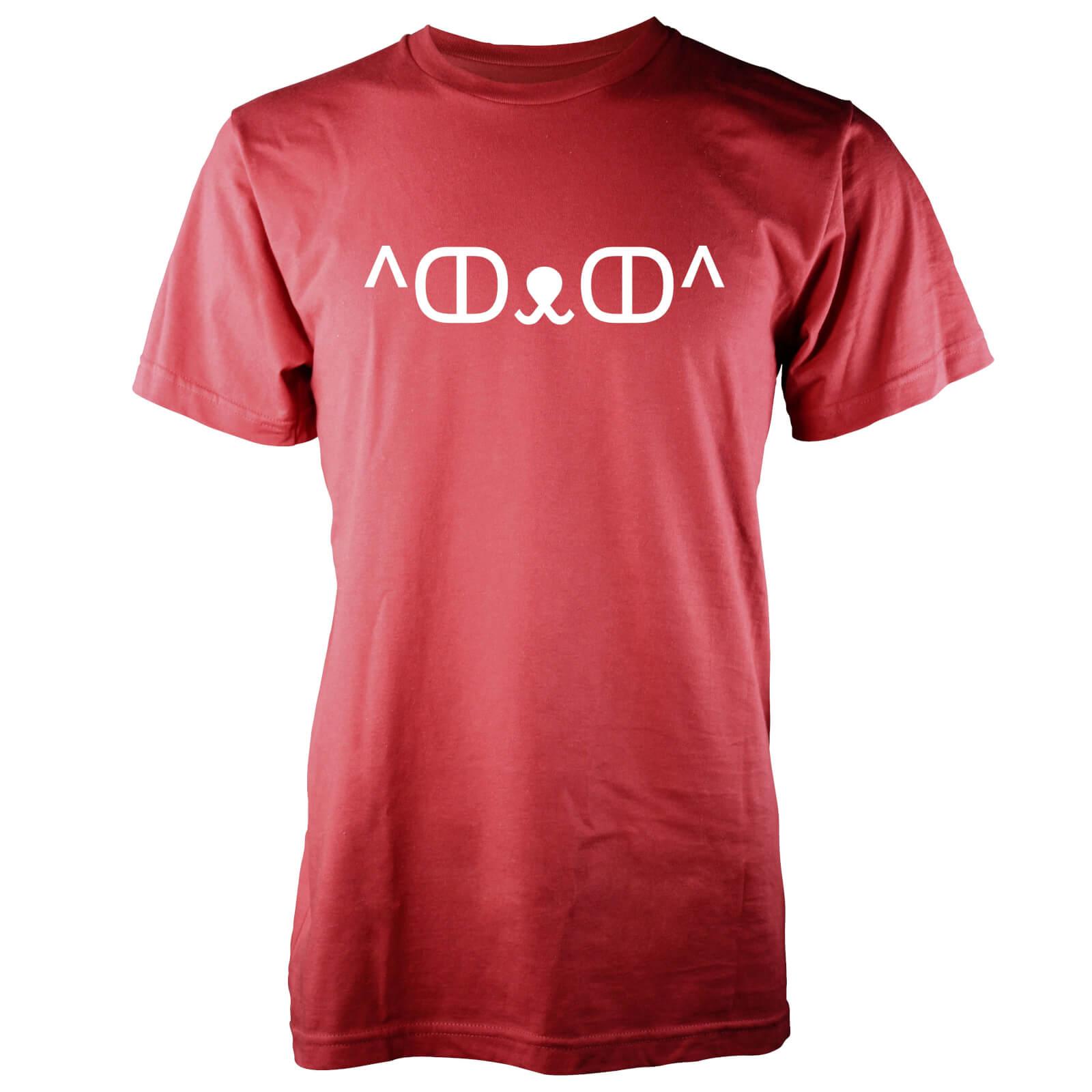 T-Junkie Men's Cute Cat Jemoticon T-Shirt - L - Red
