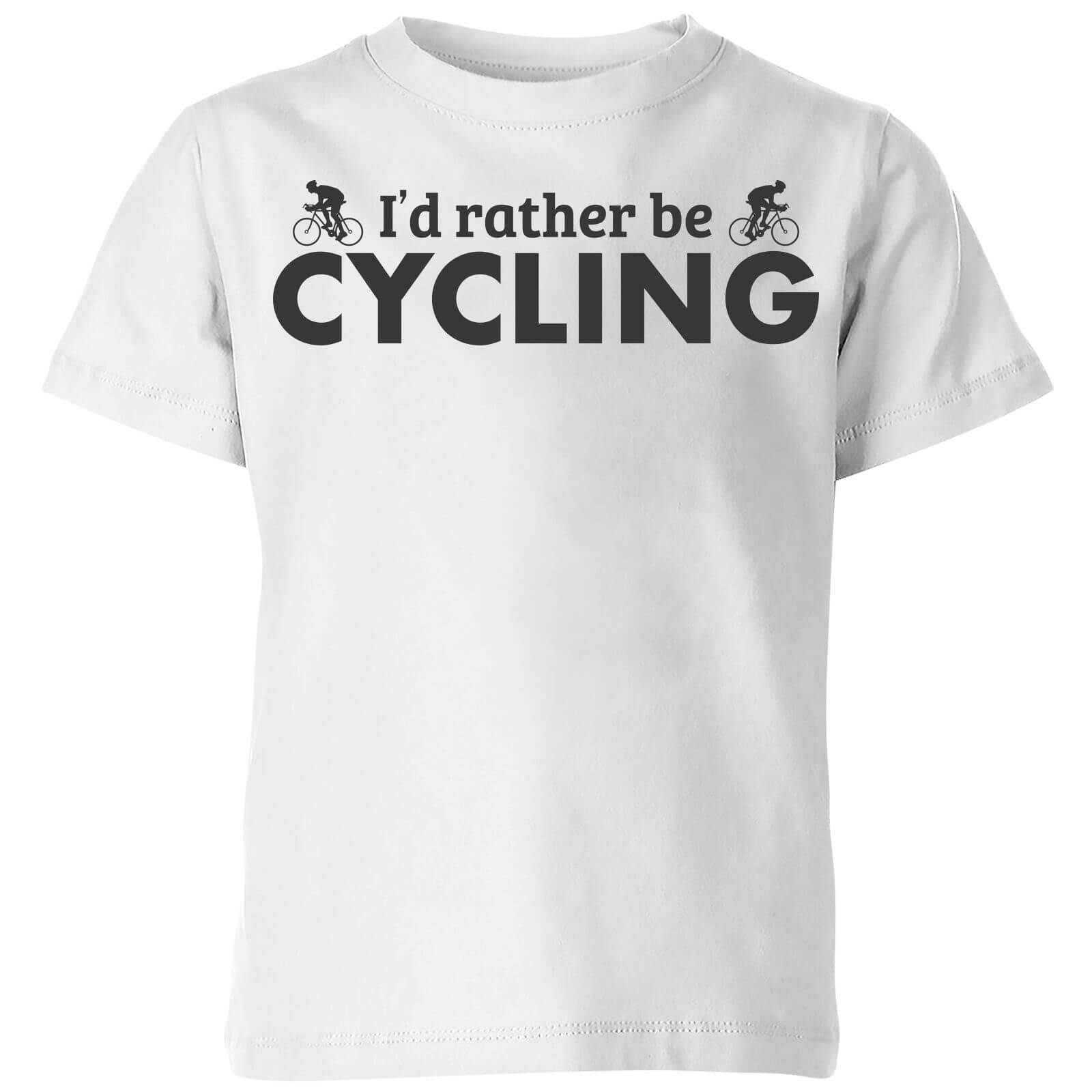 The Dad Collection I'd Rather be Cycling Kids' T-Shirt - White - 3-4 Years - White