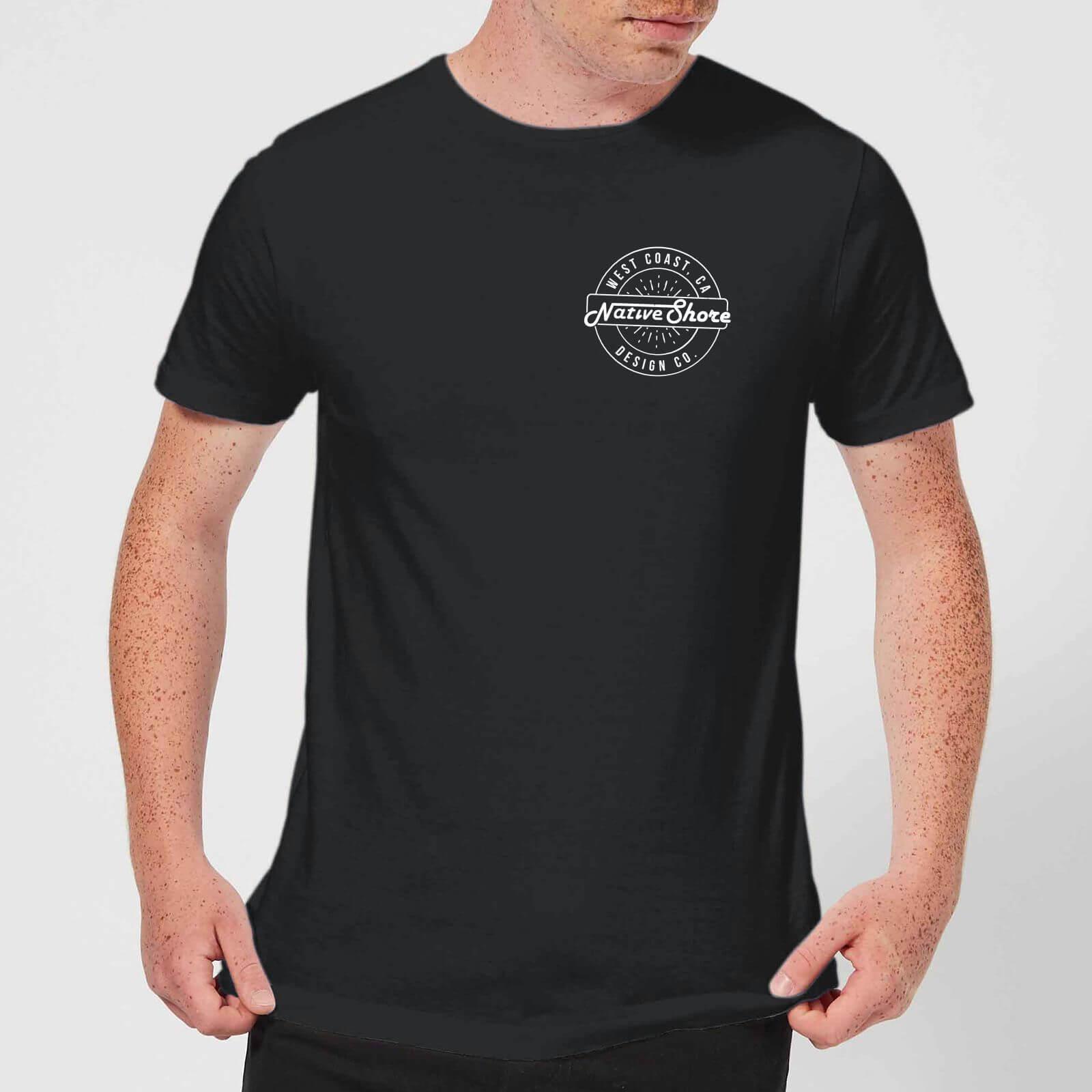 Native Shore Men's West Coast T-Shirt - Black - L - Black