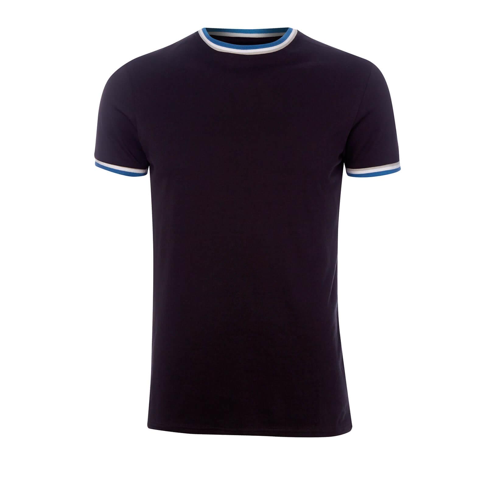 Broken Standard Men's Sacombe Tipped T-Shirt - Black - XL - Black